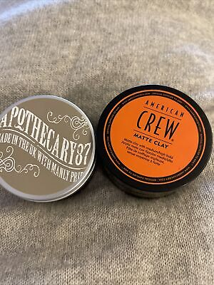 £8 • Buy American Crew Men's Moulding Clay/ Apothecary 87 Pomade See Pics Opened