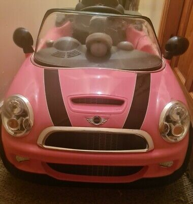 £35 • Buy Child's Pink Mini Cooper Ride On Electric Car - 6v (with Charger)