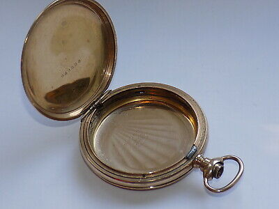 £7.99 • Buy GENTLEMAN'S CRESCENT PLANET 20 YEARS GOLD PLATED HUNTER POCKET WATCH CASE 52 Mm