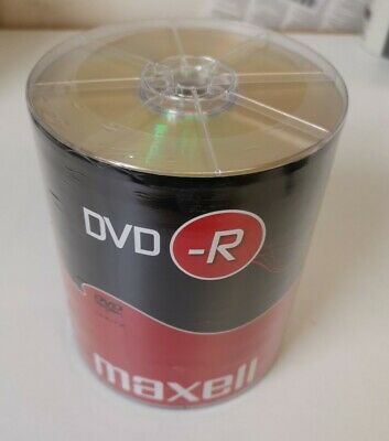 £16.99 • Buy MAXELL DVD-R Blank Recordable Digital Disc DVDR 4.7GB 16x SPEED 120mins 100 Pack