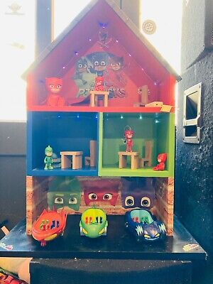 £45 • Buy PJ Mask House With Bundle Toys Job Lot With Figures Vehicles