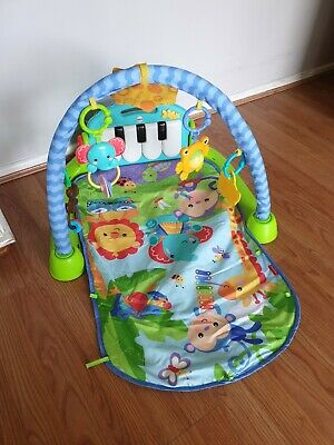 £9.95 • Buy Fisher BMH49 Kick And Play Piano Gym Baby Play Mat - Blue