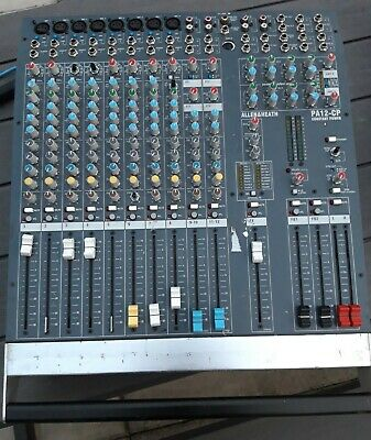 £180 • Buy Allen & Heath CP12 Powered Mixing Desk 2 X 500w (some Faders Are Dodgy)