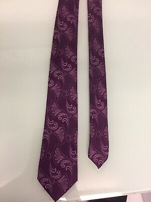 £4.99 • Buy TED BAKER TIE  Knotted  100% Silk Purple Paisley Excellent Condition
