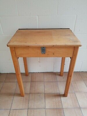 £4 • Buy Vintage Old Wooden School Desk And Chair