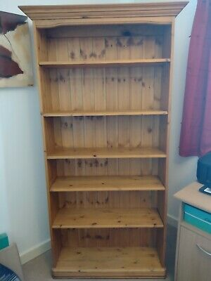 £21 • Buy Solid Pine Tall Bookcase - Used, Beautiful Condition