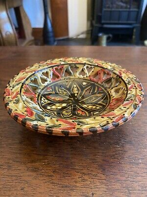 £10 • Buy Hand Painted French Pottery Bowl, Heavy Glaze.