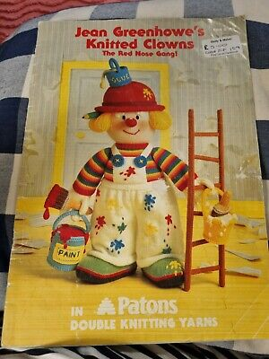 £0.99 • Buy JEAN GREENHOWE KNITTING TOY PATTERNS Knitted Clowns