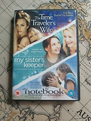 £3.50 • Buy Time Traveler's Wife + My Sister's Keeper + The Notebook - DVD 3-Disc Set, 2010