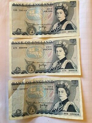 £10 • Buy 3 Bank Of England £5 Notes