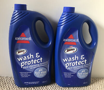 £15.80 • Buy Bissell Wash And Protect Fibre Cleansing Formula 2x 1.42 Litre