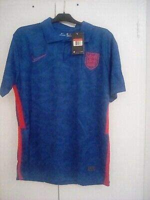 £38.99 • Buy England Away BLUE Euro National Team SHIRT Men's SIZE LARGE With Shorts