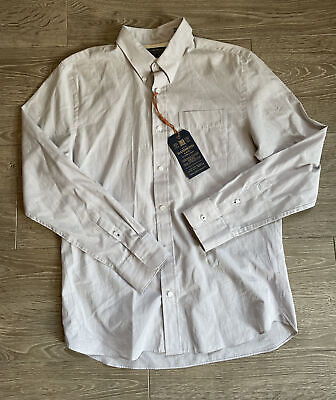 £19.99 • Buy Hammond & Co Men's Off White Lilac Shirt Collar Size: 15.5inch) Brand New RRP£40