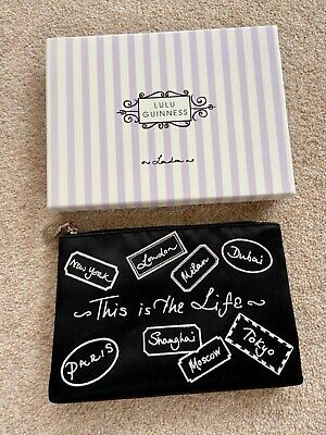 £19.95 • Buy Lulu Guinness 'This Is The Life' Top Zip Purse Make Up Cosmetic Bag Boxed