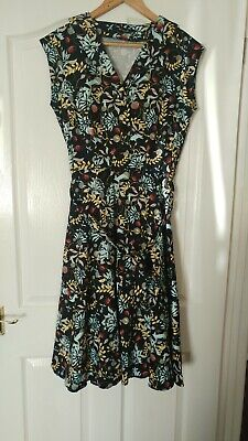 £19 • Buy Lady V Vintage  Florence Teal  14 Dress Tea Dress. Added Is A Red Petticoat.