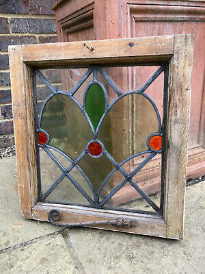 £20 • Buy Antique Stained Glass Leaded Window Decorative Sculpture Display Panel
