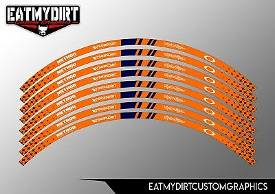£18.99 • Buy Wheel Rim Tapes Graphics Stickers Motocross Decals To Fit Ktm 18  To 21  Wheels