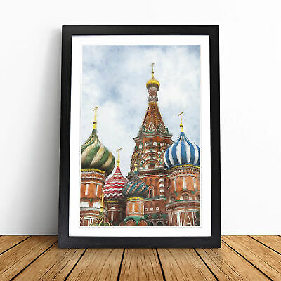 £18.95 • Buy The St Basils Cathedral Russia Painting Wall Art Framed Print Picture