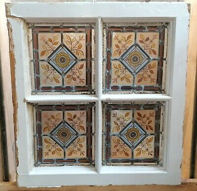 £200 • Buy A VERY PRETTY SMALL VICTORIAN HAND PAINTED STAINED GLASS WINDOW Ref M1536