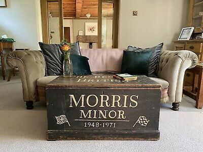 £265 • Buy Old Antique PINE CHEST, Wooden Blanket TRUNK, Coffee TABLE, Vintage Storage BOX
