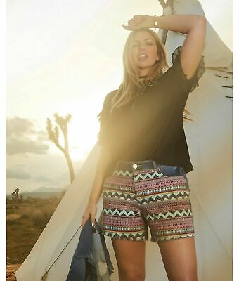 £12 • Buy New SIMPLY BE Aztec Print Front Summer Denim Shorts PLUS SIZE 20 CURVE