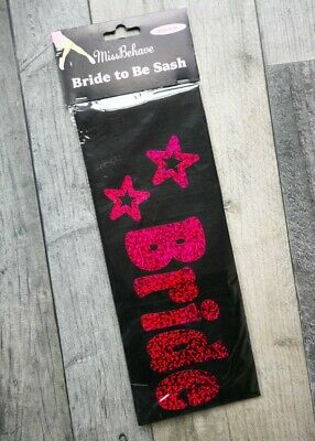 £2 • Buy 1x 'Bride To Be' Party Sash Hen Sashes Wedding Night Out Do Ladies Accessory