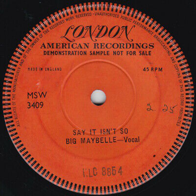 £29.99 • Buy Blues--Big Maybelle--Say It Isn't So--ONE SIDED PROMO  !!
