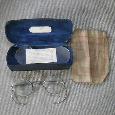 £11.99 • Buy Wwii Round Wire Frame Spectacles Designed For Use W/ Respirator Gas Mask