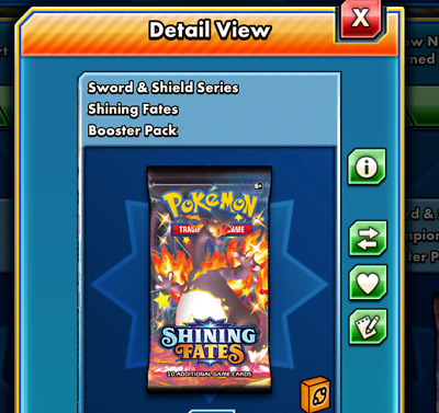$16 • Buy 100 Shining Fates Pokemon TCG Online Booster Pack Code PTCGO (Sent In Game)