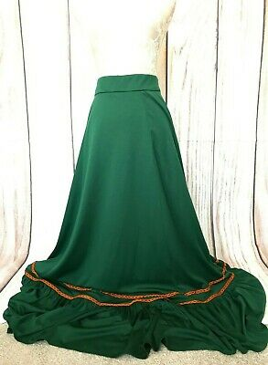 £9.99 • Buy Vintage After Six Ronald Joyce Floor Length Green Embroidered Skirt 8/10 W28