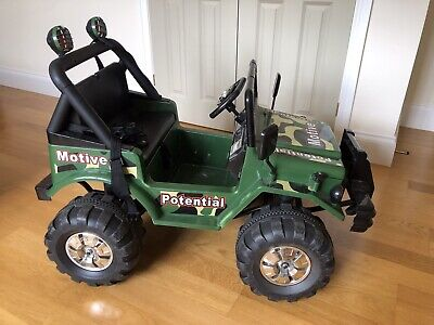 £50 • Buy Child's Electric Ride On Car 2 Seater Green 12v Jeep