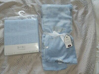 £2.20 • Buy Baby Blue Blankets New Never Used