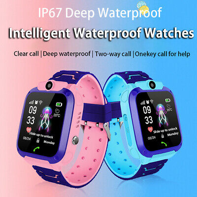 AU21.20 • Buy Waterproof Tracker GPS Smart Kids Watch With Camera SOS Call For IOS Android