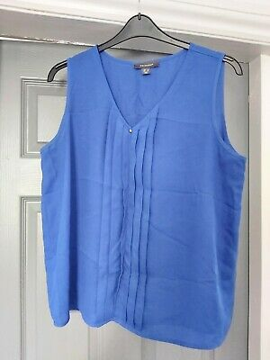 £0.99 • Buy PRIMARK Ladies Electric Blue Pleated Sleeveless Blouse Size 18