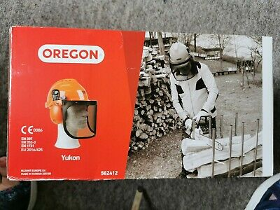 £16 • Buy QUALITY OREGON Yukon Chainsaw Safety Helmet With Protective Ear Muff And Mesh Vi