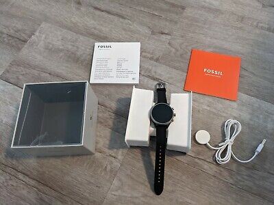 AU93.14 • Buy Fossil Sport Smartwatch Heart Rate 41mm Aluminum Case W/ Black Silicone Band