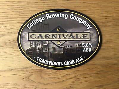£4.99 • Buy Rare Cottage Brewing Carnivale Fairground Theme Beer Pump Clip