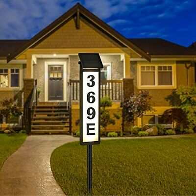 £36.75 • Buy Solar House Address Numbers Sign Waterproof Lighted Up Address Plaques Street