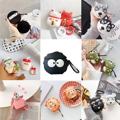 £2.91 • Buy 3D Cute Cartoon Silicone Charging Case Cover Skin Protective For AirPods 1/2/Pro
