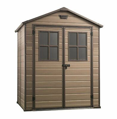 £578.96 • Buy Keter 17202393 Scala Outdoor Garden Storage Shed, Brown, 6 X 5 Ft
