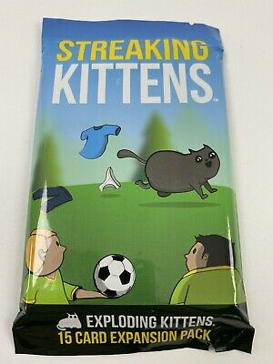 AU5.46 • Buy New Streaking Kittens Exploding Kittens 15 Card 2nd Expansion Pack Card Game