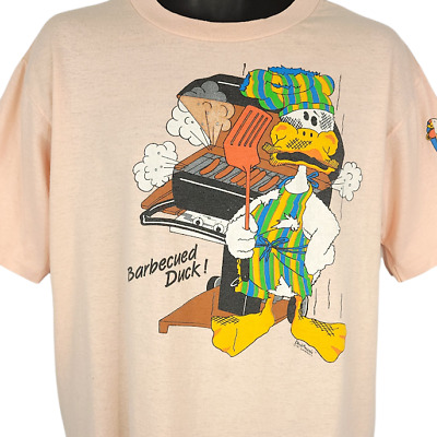 £51.18 • Buy Barbecued Duck T Shirt Vintage 80s BBQ Funny Humor Joke Made In USA Size Large