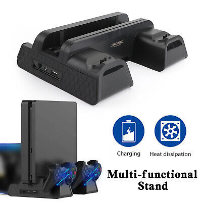 AU52.05 • Buy 2 In 1 Controller Charge Dock Station Cooling Fan Vertical Stand Fit For PS4 Pro