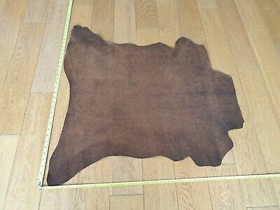 £50 • Buy WHOLE DISTRESSED BROWN LEATHER HIDE PIECE APPROX 5 Sq.ft