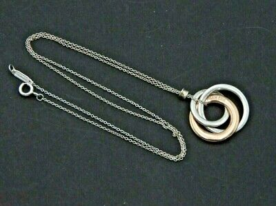 £167 • Buy Tiffany & Co Necklace 1837 Rubedo 3 Interlocking Circles Solid Sterling Silver