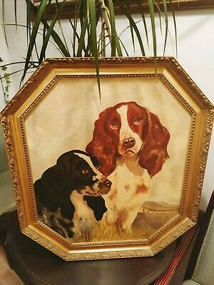 £27.99 • Buy 🌟 Beautiful Hunting Spaniels Painting By A.COX Frame Size 25 X 22 🌟
