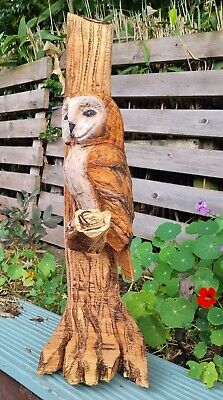 £210 • Buy Chainsaw Carved Barn Owl  Garden Sculpture .