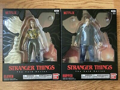 AU144.90 • Buy Bandai Stranger Things The Void Series Eleven (1) And Hopper (2) Netflix Figures