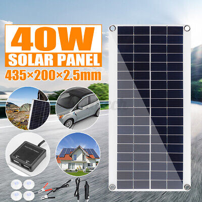 £17.22 • Buy 40W 12V Solar Panel Folding Portable Power Charger Camping Travel Phone Charger