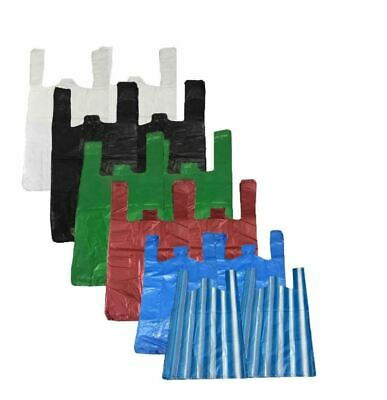 £3.99 • Buy Plastic Carrier Bags Strong Vest Shopping Supermarket Shop Takeaway [all Sizes]